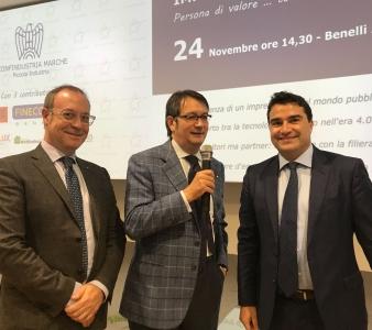 La Piccola Industria alla Benelli Armi con il presidente nazionale Robiglio  Mingarelli
